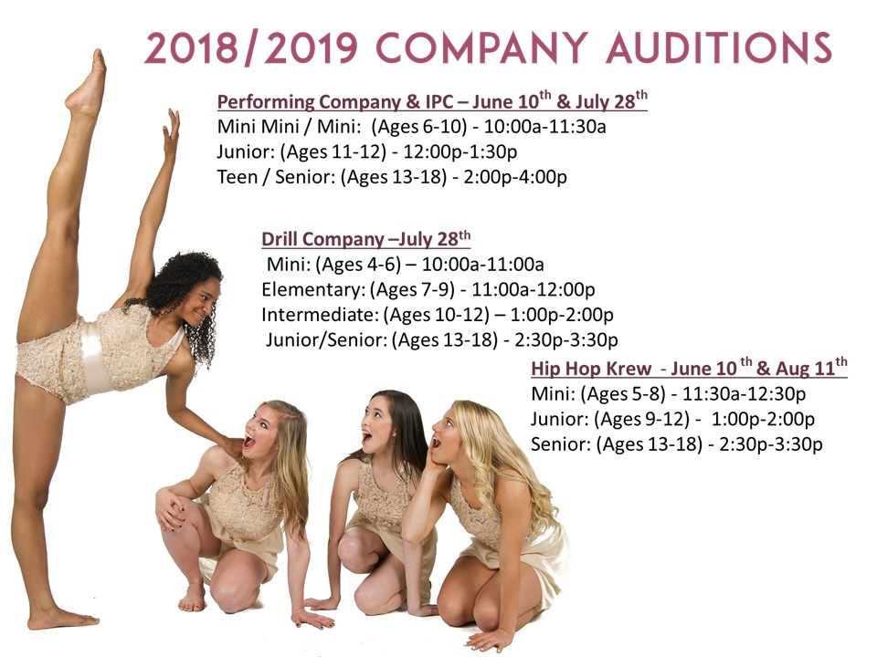 2018-2019 Company Audition Dates